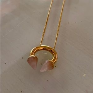 Vita Fede Titan Rose Quartz Stone Necklace